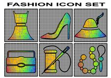 Fashion icon set Stock Photo