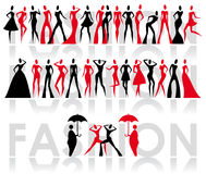 Fashion icons Royalty Free Stock Image