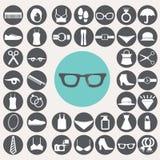 Fashion icons set. Royalty Free Stock Photo