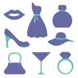 Fashion icons set. Vector illustration Royalty Free Stock Image