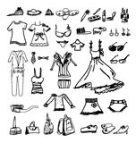 Fashion icons sketch Royalty Free Stock Photo