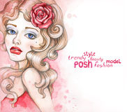 Fashion illustration Stock Image