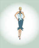 Fashion illustration. With gradient background Royalty Free Stock Images