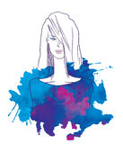 Fashion illustration Royalty Free Stock Image