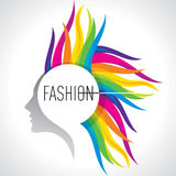 Fashion illustration with beauty icon Stock Images