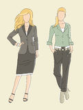 Fashion illustration business women Royalty Free Stock Images