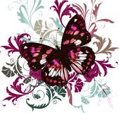 Fashion illustration colorful butterfly Stock Photos