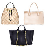 Fashion Illustration - diifferent types of women hand bags Stock Photos