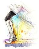 Fashion Illustration - Fancy Boots Royalty Free Stock Image