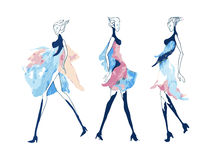 Fashion illustration girl royalty free stock photos