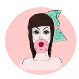 Fashion  illustration. Glamour girl. Royalty Free Stock Image