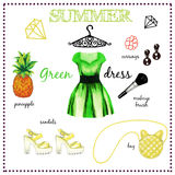 Fashion illustration outfit Royalty Free Stock Photos