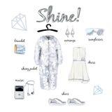 Fashion illustration outfit Stock Photo