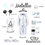Fashion illustration outfit Royalty Free Stock Photo