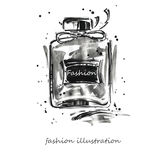 Fashion illustration. Perfume. Stock Image