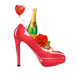 Fashion illustration - Valentine's Day greeting card Royalty Free Stock Photography