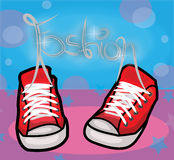 Fashion illustration. Vector illustration of a pair of shoes Stock Photography