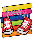 Fashion illustration. Vector illustration of a pair of shoes Stock Photo