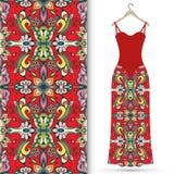 Fashion illustration, women's dress on a hanger Royalty Free Stock Photo