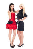 Fashion image of two beautiful women Stock Image