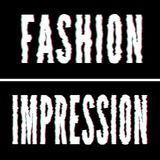 Fashion Impression slogan, Holographic and glitch typography, tee shirt graphic, printed design. Fashion Impression slogan, Holographic and glitch typography royalty free illustration