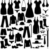 Fashion industry-shopping. Illustration industry fashion footwear and clothing on a white background stock illustration