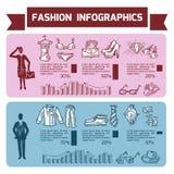 Fashion Infographics Set Stock Photo