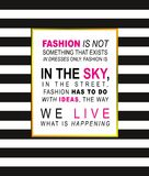 Fashion. An inspirational quote written in black and pink ink, i Stock Image