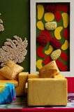 Fashion interior with colorful wall Stock Images