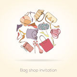 Fashion invitation card Stock Image