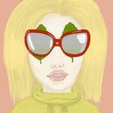 Strange glasses stock illustration