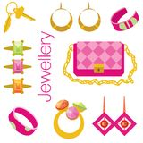 Fashion items set. Vector. Eps 10. Stock Image