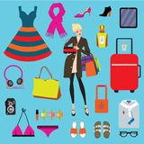 Fashion items set. Vector. Eps 10. Stock Images