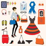Fashion items set. Vector. Eps 10. Stock Photo