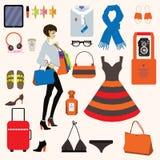 Fashion items set. Vector. Eps 10. Stock Photo