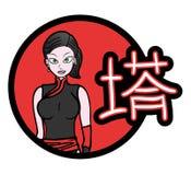 Fashion Japan girl Stock Image