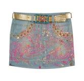 Fashion jeans skirt Stock Photos