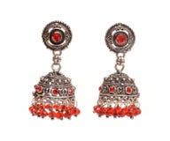 Fashion jewelery. Isolated fashion jewelery - ear rings Stock Images