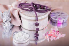 Fashion jewelry, beads, decorations Stock Images