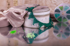 Fashion jewelry, beads, decorations Royalty Free Stock Image