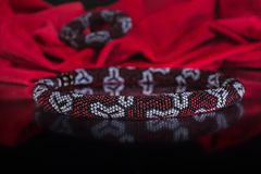Fashion jewelry, beads, decorations Royalty Free Stock Photos