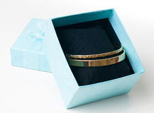 Fashion jewelry, bracelets in a gift box Stock Photo