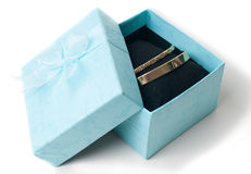 Fashion jewelry, bracelets in a gift box Royalty Free Stock Photo