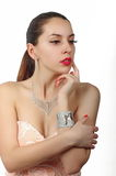 Fashion jewelry on luxury woman model 2 Royalty Free Stock Photography