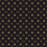 Fashion jewelry vector seamless pattern stock illustration