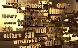 Fashion Keywords Tag Cloud Stock Photo