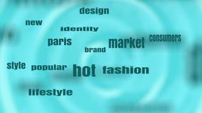 Fashion Keywords Tags Cloud. stock video