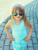 Fashion kid concept - portrait of stylish little girl child royalty free stock image
