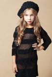 Fashion kid girl Royalty Free Stock Photography