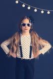 Fashion kid girl Stock Images